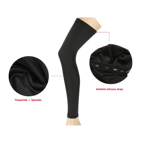 Outdoor Cycling Leg Sleeve Sports Knee Protector Brace Breathable Anti-UV Basketball Football Running Jogging Quick Dry Leg Sleeve