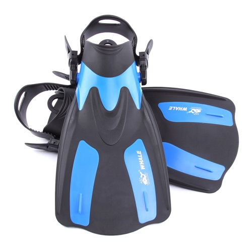 WHALE Adult Short Snorkeling Swim Fins Flippers with Adjustable Heel Water SportsSports &amp; Outdoor<br>WHALE Adult Short Snorkeling Swim Fins Flippers with Adjustable Heel Water Sports<br>