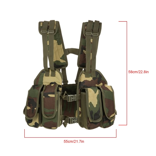 Outdoor Tactical Chest Rig Adjustable Padded Modular Military Vest Mag Pouch Magazine Holder Bag PlatformSports &amp; Outdoor<br>Outdoor Tactical Chest Rig Adjustable Padded Modular Military Vest Mag Pouch Magazine Holder Bag Platform<br>