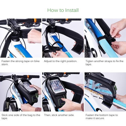 "ROCKBROS Water-resistant Cycling Bicycle Bike Top Front Tube Frame Bag Water Resistant Touchscreen Phone Holder Case for 5.8""/6.0""Sports &amp; Outdoor<br>ROCKBROS Water-resistant Cycling Bicycle Bike Top Front Tube Frame Bag Water Resistant Touchscreen Phone Holder Case for 5.8""/6.0""<br>"