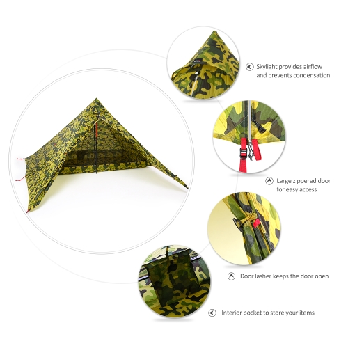 Ultralight 2 Person Tent Portable Backpacking Tent Double-Side Silicone Coating Water-resistant Outdoor Camping Tent Tarp Sun ShelSports &amp; Outdoor<br>Ultralight 2 Person Tent Portable Backpacking Tent Double-Side Silicone Coating Water-resistant Outdoor Camping Tent Tarp Sun Shel<br>