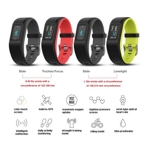 Garmin vivosport GPS Heart Rate Monitor Smart Fitness Sports Activity Tracker Watch Band