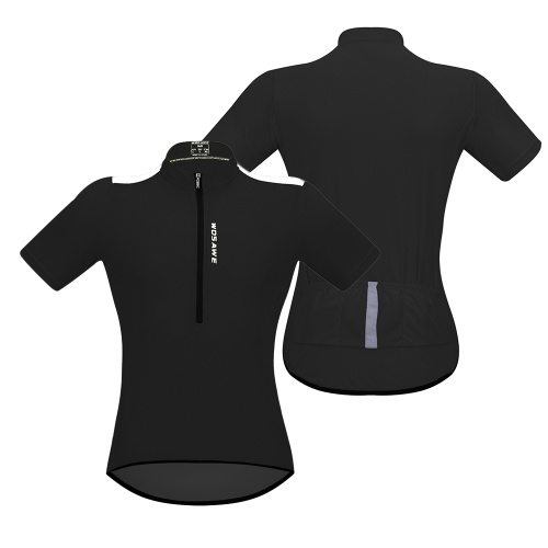 Men's Short Sleeve Cycling Jersey Breathable Half Zipper MTB Riding Biking Bicycle Shirt Top
