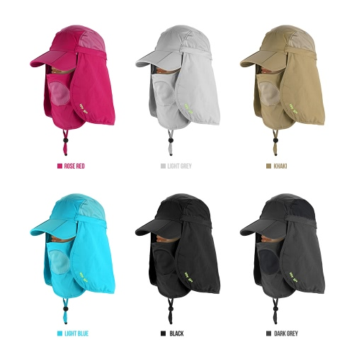 Multi-Function Folding Sun Cap Flap Hat 360° Protection UPF 50+ Sun Cap Baseball Cap with Removable Neck Face Flap Cover for Men WSports &amp; Outdoor<br>Multi-Function Folding Sun Cap Flap Hat 360° Protection UPF 50+ Sun Cap Baseball Cap with Removable Neck Face Flap Cover for Men W<br>