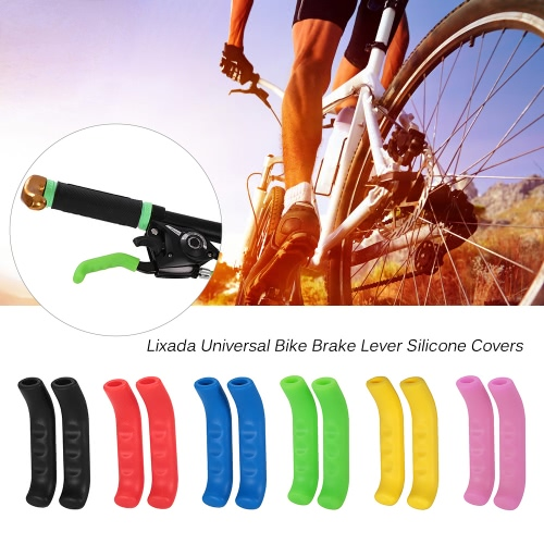 Lixada 1 Pair of Universal Bike Brake Lever Silicone Covers Hoods Handle Sleeves Protector for Folding Bike Mountain Bike MTB AntiSports &amp; Outdoor<br>Lixada 1 Pair of Universal Bike Brake Lever Silicone Covers Hoods Handle Sleeves Protector for Folding Bike Mountain Bike MTB Anti<br>