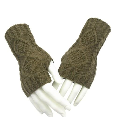 冬の秋のニット手袋