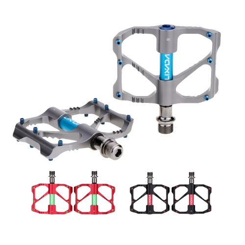 2Pcs Lixada Aluminum Alloy Mountain Bike Sealed Bearing Platform Pedals 9/16Sports &amp; Outdoor<br>2Pcs Lixada Aluminum Alloy Mountain Bike Sealed Bearing Platform Pedals 9/16<br>