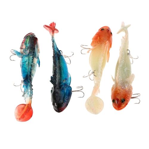 2Pcs 11.5cm 39g Soft Luminous Lead Fishing Lures Long T Tail Baits with 2 Treble HooksSports &amp; Outdoor<br>2Pcs 11.5cm 39g Soft Luminous Lead Fishing Lures Long T Tail Baits with 2 Treble Hooks<br>