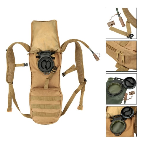 Outdoor Hydration Knapsack Pack Backpack + 2.5L Water Bladder BagSports &amp; Outdoor<br>Outdoor Hydration Knapsack Pack Backpack + 2.5L Water Bladder Bag<br>