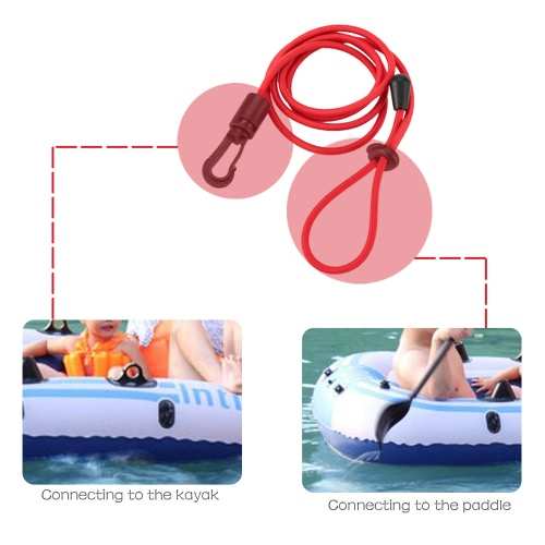 1pc 4mm Thick Elastic Kayak Canoe Safety Rod Leash Fishing Rod Lanyard Paddle LeashSports &amp; Outdoor<br>1pc 4mm Thick Elastic Kayak Canoe Safety Rod Leash Fishing Rod Lanyard Paddle Leash<br>