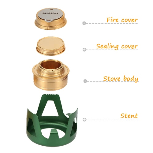 Lixada Copper Alloy Portable Mini Ultra-light Spirit Burner Alcohol Stove Outdoor Camping Stove FurnaceSports &amp; Outdoor<br>Lixada Copper Alloy Portable Mini Ultra-light Spirit Burner Alcohol Stove Outdoor Camping Stove Furnace<br>