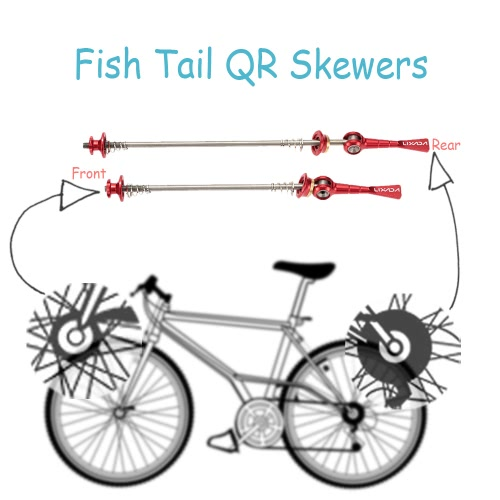 Lixada 2Pcs Ultralight Bicycle Skewers Quick Release Titanium Axle QR Hub SkewerSports &amp; Outdoor<br>Lixada 2Pcs Ultralight Bicycle Skewers Quick Release Titanium Axle QR Hub Skewer<br>