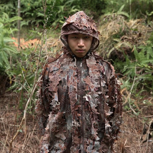 Lixada Camouflage Leafy Hunting Suit Jacket Pants Bionic Warrior Ghillie Suit for Hunting GamesSports &amp; Outdoor<br>Lixada Camouflage Leafy Hunting Suit Jacket Pants Bionic Warrior Ghillie Suit for Hunting Games<br>
