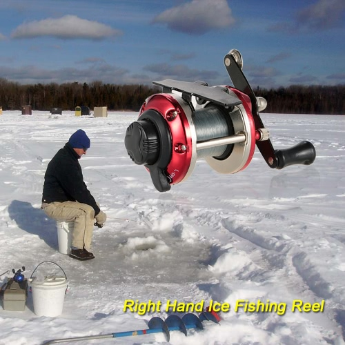 Right Hand Ice Fishing Reel Drum Reel Lightweight Small Compact Design Metal Construction for Saltwater FreshwaterSports &amp; Outdoor<br>Right Hand Ice Fishing Reel Drum Reel Lightweight Small Compact Design Metal Construction for Saltwater Freshwater<br>