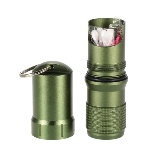Every Day Carry Water Resistant Key Safe Matches Cap Survival Match Pill Case Can Carry Container Gear Aluminum AlloySports &amp; Outdoor<br>Every Day Carry Water Resistant Key Safe Matches Cap Survival Match Pill Case Can Carry Container Gear Aluminum Alloy<br>