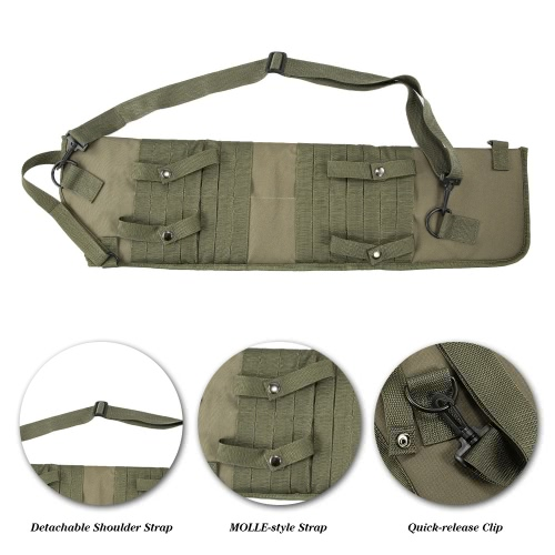 Outdoor Hunting Tactical Storage Scabbard Sheath Storage Bag Shoulder Bag Case MOLLE Strap with Carrying HandleSports &amp; Outdoor<br>Outdoor Hunting Tactical Storage Scabbard Sheath Storage Bag Shoulder Bag Case MOLLE Strap with Carrying Handle<br>