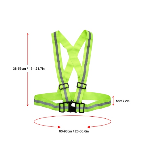 Outdoor Sports Reflective Vest Lightweight Adjustable Elastic High Visibility Safety Vest Strap Gear for Running Cycling JoggingSports &amp; Outdoor<br>Outdoor Sports Reflective Vest Lightweight Adjustable Elastic High Visibility Safety Vest Strap Gear for Running Cycling Jogging<br>