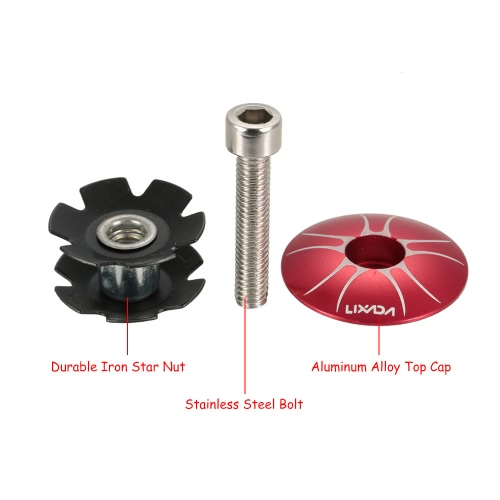 Lixada 1pc Bike MTB Cycling Headset Star Nut with Aluminum Alloy Cap Top Replacement Kit for 25.4mm Front ForksSports &amp; Outdoor<br>Lixada 1pc Bike MTB Cycling Headset Star Nut with Aluminum Alloy Cap Top Replacement Kit for 25.4mm Front Forks<br>