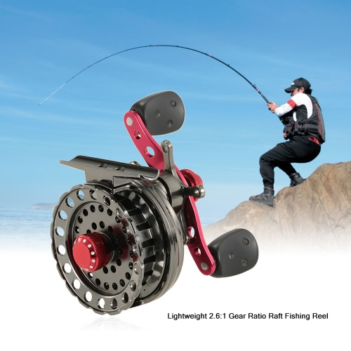 Lightweight 2.6:1 Gear Ratio Fishing Raft Fishing Ice Reel Fly Reel Wheel Right/Left Hand Aluminum Alloy Reel Smooth Release StarSports &amp; Outdoor<br>Lightweight 2.6:1 Gear Ratio Fishing Raft Fishing Ice Reel Fly Reel Wheel Right/Left Hand Aluminum Alloy Reel Smooth Release Star<br>