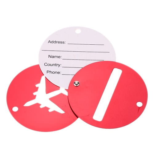 2Pcs Aluminum Alloy Metal Air Plane Pattern Travel Airlines Round Luggage Tag Baggage Handbag Suitcase Identity ID Label IdentifieSports &amp; Outdoor<br>2Pcs Aluminum Alloy Metal Air Plane Pattern Travel Airlines Round Luggage Tag Baggage Handbag Suitcase Identity ID Label Identifie<br>
