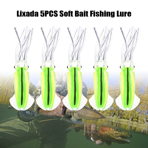 Lixada 5PCS Big Squid Baits Artificial Soft Fishing Lures Saltwater Octopus Skirt Luminous Bait Deep Sea Fishing LureSports &amp; Outdoor<br>Lixada 5PCS Big Squid Baits Artificial Soft Fishing Lures Saltwater Octopus Skirt Luminous Bait Deep Sea Fishing Lure<br>