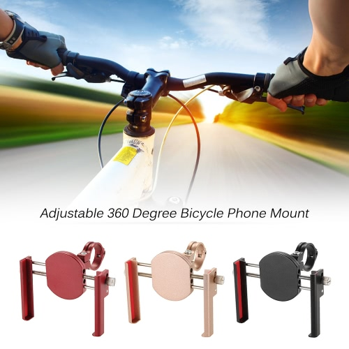 Lixada Universal Phone Holder Adjustable 360 Degree Aluminum Alloy Cycling Bicycle Cell Phone Holder Mount Bracket for iPhone forSports &amp; Outdoor<br>Lixada Universal Phone Holder Adjustable 360 Degree Aluminum Alloy Cycling Bicycle Cell Phone Holder Mount Bracket for iPhone for<br>