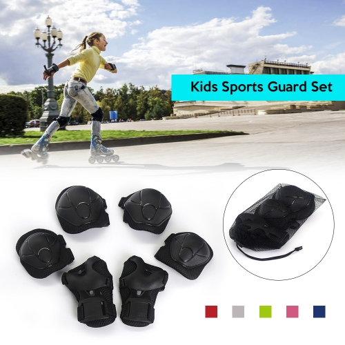 Lixada 6PCS Brace Kids Youth Cycling Roller Skating Skateboard Elbow Knee Hands Wrist Safety Protection Guard Pads SetSports &amp; Outdoor<br>Lixada 6PCS Brace Kids Youth Cycling Roller Skating Skateboard Elbow Knee Hands Wrist Safety Protection Guard Pads Set<br>
