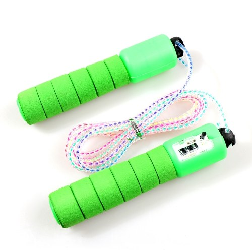 8.8 Feet Adjustable Jump Rope Fitness Skipping Jumping Rope with Counter and Comfortable Nonslip EVA Handles for Kids Students