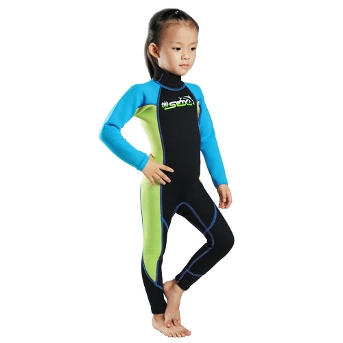 Детские подводные костюмы 2MM Neoprene Wetsuit Boys Girls Zipper Гребля на байдарках и каноэ Плавание Подводное плавание Каякинг Купальники