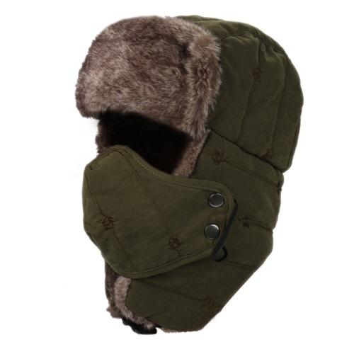 女性の男性撥水ウォーム冬のトルーパーの帽子マスクイヤフラップ