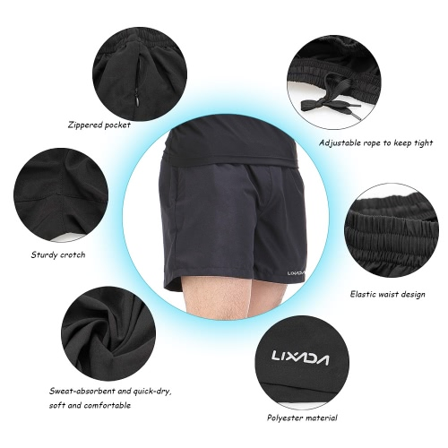 Lixada Men Breathable &amp; Sweat-absorbent Sports Shorts Leisure Shorts for Running GymSports &amp; Outdoor<br>Lixada Men Breathable &amp; Sweat-absorbent Sports Shorts Leisure Shorts for Running Gym<br>