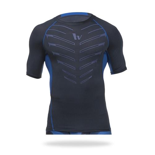 Mens Short Sleeve Compression Shirt Sport Fitness Bodybuilding Gym Running Reflective Top T-ShirtSports &amp; Outdoor<br>Mens Short Sleeve Compression Shirt Sport Fitness Bodybuilding Gym Running Reflective Top T-Shirt<br>