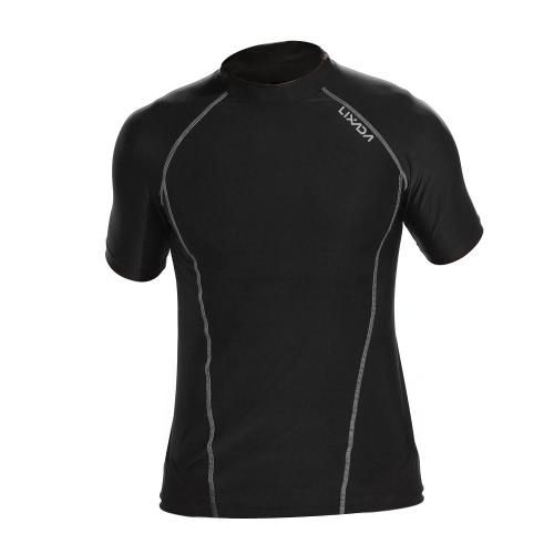 Lixada Men Short Sleeves Quick Drying Breathable Sports T-shirt Compression Shirt for Indoor &amp; Outdoor Workout FitnessSports &amp; Outdoor<br>Lixada Men Short Sleeves Quick Drying Breathable Sports T-shirt Compression Shirt for Indoor &amp; Outdoor Workout Fitness<br>