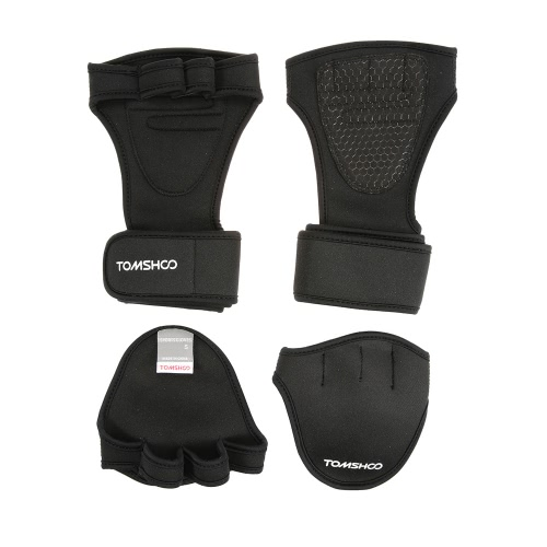 TOMSHOO Unisex Weightlifting Gloves with Wrist Wrap Hand Grip Pads Bundle Set for Men and Women 2-in-1 Fitness Bundle for Cross TrSports &amp; Outdoor<br>TOMSHOO Unisex Weightlifting Gloves with Wrist Wrap Hand Grip Pads Bundle Set for Men and Women 2-in-1 Fitness Bundle for Cross Tr<br>