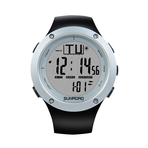 SUNROAD 5ATM Waterproof Backlight Watch Altimeter Thermometer Stopwatch Fishing Barometer Outdoor Sports WatchSports &amp; Outdoor<br>SUNROAD 5ATM Waterproof Backlight Watch Altimeter Thermometer Stopwatch Fishing Barometer Outdoor Sports Watch<br>