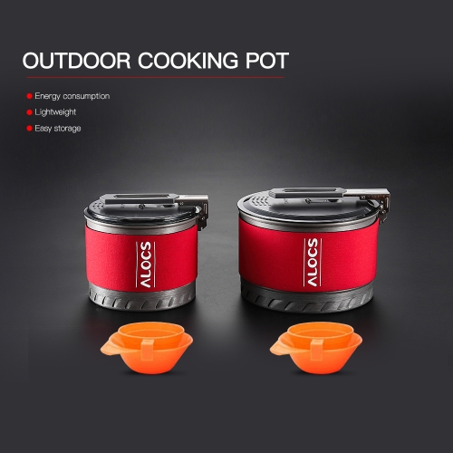 1.4L Outdoor Cooking Pot Cookware Set Portable Hiking Camping Picnic Backpacking Mountaineering Pot Cookware CookerSports &amp; Outdoor<br>1.4L Outdoor Cooking Pot Cookware Set Portable Hiking Camping Picnic Backpacking Mountaineering Pot Cookware Cooker<br>