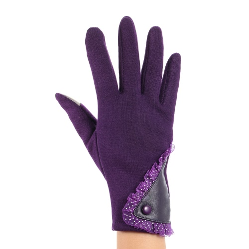 Womens Stylish Lace Touch Screen Gloves Lined Thick Warm Winter GlovesSports &amp; Outdoor<br>Womens Stylish Lace Touch Screen Gloves Lined Thick Warm Winter Gloves<br>