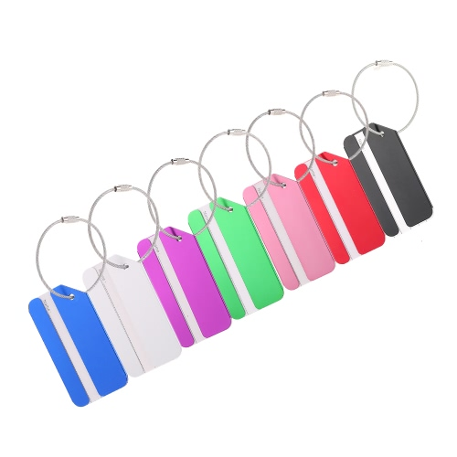 2Pcs Metal Aluminum Alloy Travel Airlines Suitcase Luggage Bag Identifier Tags Tag Labels Bag ID Address Name Identity Holder KeyrSports &amp; Outdoor<br>2Pcs Metal Aluminum Alloy Travel Airlines Suitcase Luggage Bag Identifier Tags Tag Labels Bag ID Address Name Identity Holder Keyr<br>