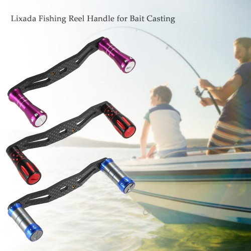 Lixada Carbon Fiber Fishing Reel Handle for Bait Casting Strong Aluminum Alloy Fishing Reel Rocker Left / Right Hand InterchangeabSports &amp; Outdoor<br>Lixada Carbon Fiber Fishing Reel Handle for Bait Casting Strong Aluminum Alloy Fishing Reel Rocker Left / Right Hand Interchangeab<br>