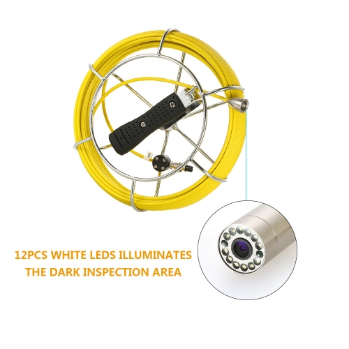 20M / 30M Drain Pipe Sewer Inspection Camera IP68 Waterproof Industrial Endoscope Borescope Inspection System Snake Camera 9 ToucSports &amp; Outdoor<br>20M / 30M Drain Pipe Sewer Inspection Camera IP68 Waterproof Industrial Endoscope Borescope Inspection System Snake Camera 9 Touc<br>