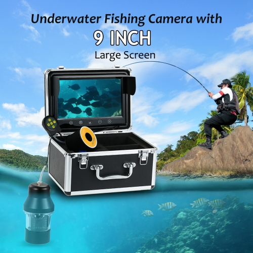 Lixada Professional Underwater Fishing Camera Fish Finder with Touch Buttons 9 Inch Large Color Screen Waterproof 18 LEDs 360 DegrSports &amp; Outdoor<br>Lixada Professional Underwater Fishing Camera Fish Finder with Touch Buttons 9 Inch Large Color Screen Waterproof 18 LEDs 360 Degr<br>