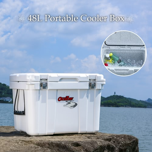 48L Portable Rotomolded Cooler Box for Camping FishingSports &amp; Outdoor<br>48L Portable Rotomolded Cooler Box for Camping Fishing<br>