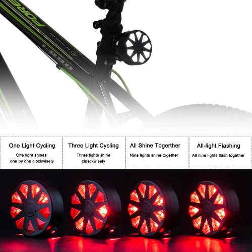 ?Mini Water-resistant 4 Modes Bike Bicycle Scooter Front Lights Taillight LED Rear Light Diamond-shape LightSports &amp; Outdoor<br>?Mini Water-resistant 4 Modes Bike Bicycle Scooter Front Lights Taillight LED Rear Light Diamond-shape Light<br>