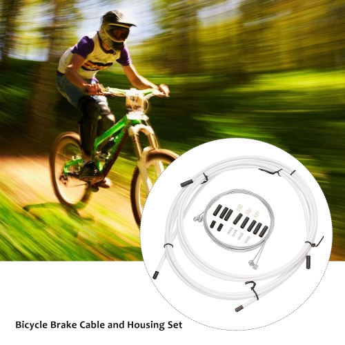 Bike Bicycle Brake Cable and Housing Set Bicycle Brake Line Housing Cable Replacement Kit Brake Shifter Derailleur Brake Cable ShiSports &amp; Outdoor<br>Bike Bicycle Brake Cable and Housing Set Bicycle Brake Line Housing Cable Replacement Kit Brake Shifter Derailleur Brake Cable Shi<br>