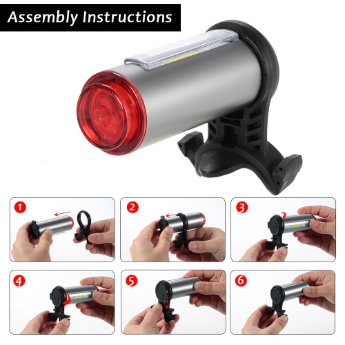 Aluminum USB Rechargeable Bicycle Light Taillight LED Warning Safety Bycicle Cycling Light Bike Rear Light Tail Light LampSports &amp; Outdoor<br>Aluminum USB Rechargeable Bicycle Light Taillight LED Warning Safety Bycicle Cycling Light Bike Rear Light Tail Light Lamp<br>