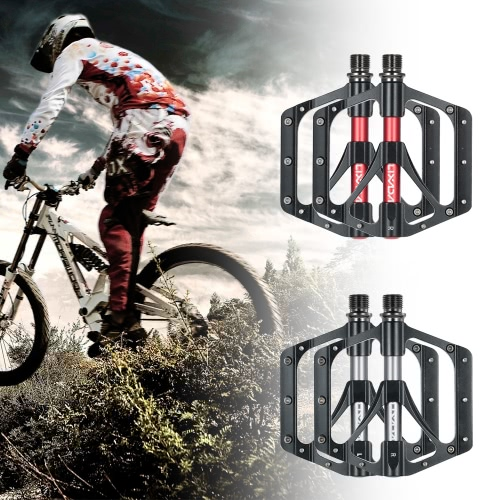Lixada 1 Pair Bicycle Pedals MTB Mountain Bicycle Pedals CNC Aluminum Alloy Sealed Bearing Platform Pedals 9/16 Bike AccessoriesSports &amp; Outdoor<br>Lixada 1 Pair Bicycle Pedals MTB Mountain Bicycle Pedals CNC Aluminum Alloy Sealed Bearing Platform Pedals 9/16 Bike Accessories<br>