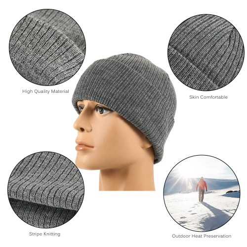 Pure Color Striped Warm Knitting Wool Beanie Outdoor Riding Unisex Knitted HatSports &amp; Outdoor<br>Pure Color Striped Warm Knitting Wool Beanie Outdoor Riding Unisex Knitted Hat<br>