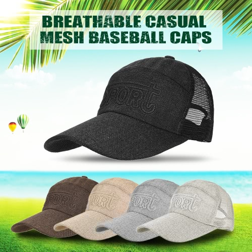 Spring Men and Women Baseball Cap Quick Dry Summer Visor Hat Breathable Casual Mesh Baseball CapsSports &amp; Outdoor<br>Spring Men and Women Baseball Cap Quick Dry Summer Visor Hat Breathable Casual Mesh Baseball Caps<br>