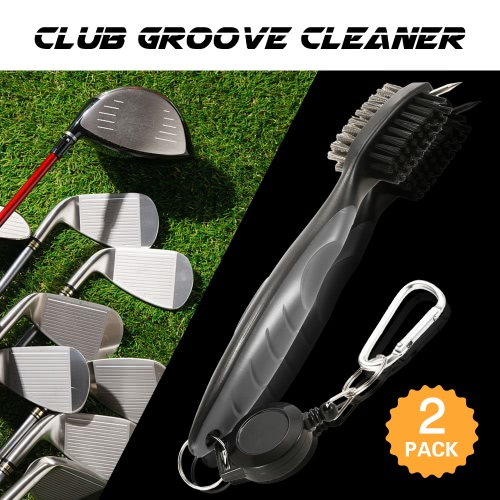 2 Pack Multifunctional Golf Brush Golf Groove Cleaner Wire Scrub Brush Golf Club Cleaning Brush with Retractable Zip-lineSports &amp; Outdoor<br>2 Pack Multifunctional Golf Brush Golf Groove Cleaner Wire Scrub Brush Golf Club Cleaning Brush with Retractable Zip-line<br>