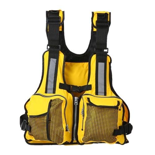 Lixada Multi Pockets Fishing Life Jacket Vest Sailing Kayaking Boating Jacket Waistcoat lbs